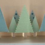 Коледна картичка с pop-up елхи