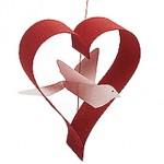 Птица в сърце за свети Валентин