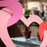Хартиен гирлянд за свети Валентин