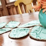 Покривка от пролетни листа за маса
