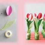 Хартиени цветя – лалета
