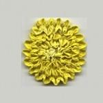 Цвете от къдричка плат