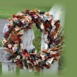 Венец от текстилни ленти
