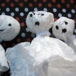 Хелуин духове от салфетка