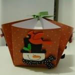 Коледна кошничка от хартия