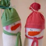 Снежен човек от чорапче