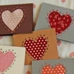 Картичка за Свети Валентин с плат