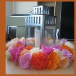 Венец от хартиени цветя