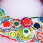Весел венец от текстил и копчета