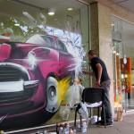 Графити по витрини в София