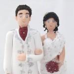 Забавни сватбени фигурки за торта