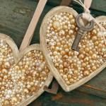 Перлено сърце за Свети Валентин