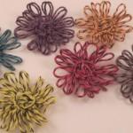 Цвете маргаритка от конци