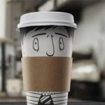 Рисувани чаши рекламират дъвки