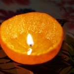 Свещ в мандарина