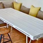 Голяма кухненска маса от дървени палети