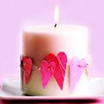 Романтични свещи за Свети Валентин