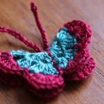 Как се плете пеперуда