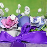 Великденска украса за маса от картонена кутия за яйца