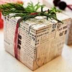 Опаковайте подаръците с вестник