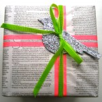 Christmas newspaper wrapping 8