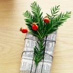 Christmas newspaper wrapping 9