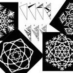 10 снежинки от хартия – Част 1