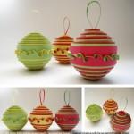 Коледни топки от хартия