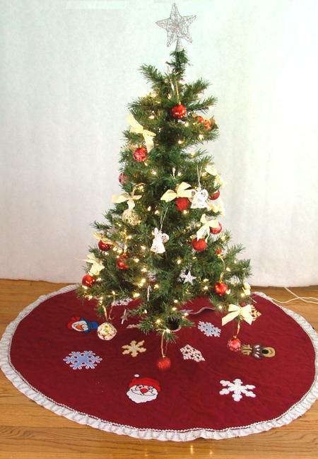 Christmas Felt Tree Skirt 0