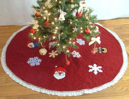 Christmas Felt Tree Skirt 1