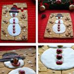 Коледен пъзел от бисквити