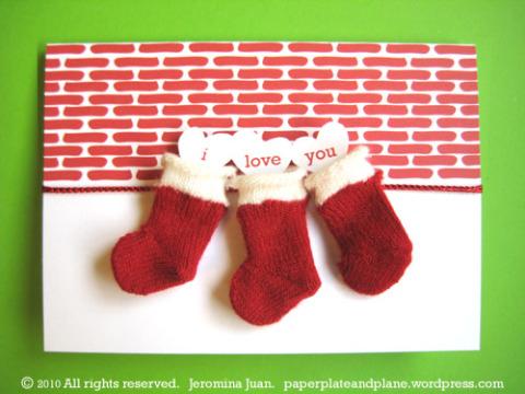 christmas stocking cards 2
