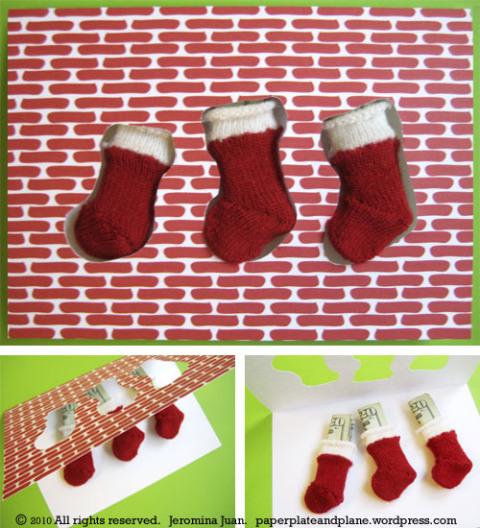 christmas stocking cards 3