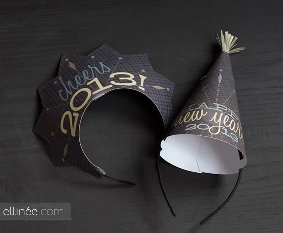 new years eve paper hat 1