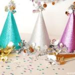 Новогодишни парти шапки от хартия