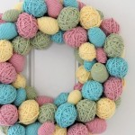 YARN EGG WREATH 7