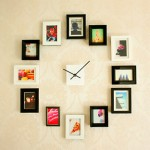framed-photos-wall-clock