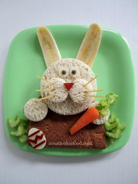 Easter Bunny sandwich 1