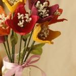 Цветя от кори за яйца