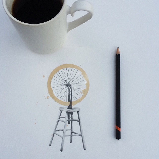 Pencil-Drawings-and-Coffee-Marks-111
