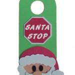 Коледна декорация за бравата