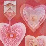 Многопластова хартиена валентинка
