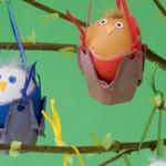 Яйца в кошнички за Великденското дърво