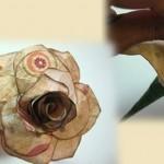 Хартиено цвете – роза 2
