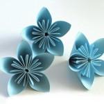 Хартиено цвете оригами