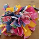 Пухкаво текстилно цвете
