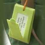 Етикет за багаж от филц