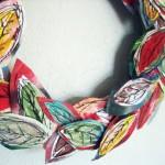 Есенен венец от текстилни листа