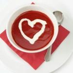 Украса на храна за Свети Валентин