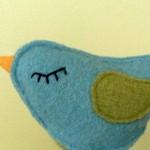 Пролетна птичка от филц